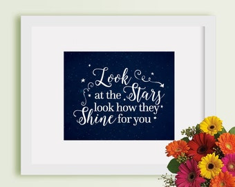 """Buy One Get One - Art Print 8""""x10"""" or 11""""x14"""" - Look at the stars look how they shine for you - blue - stars - feather - arrow - BOGO"""