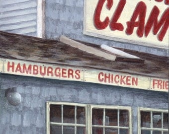 Limited Edition Art Print of Clam Shack, Giclee of an Original Painting of the Clam Box by Debbie Shirley