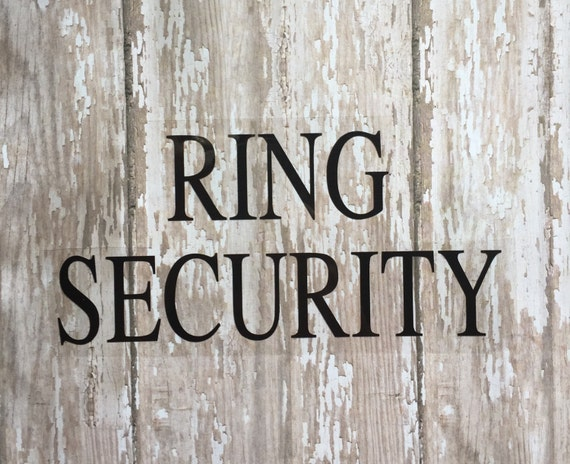 Ring Security Iron on Decal/ Ring Bearer Iron on Decal/ Ring Bearer Rehearsal Dinner Iron on Decal/ DIY Ring Bearer Iron on