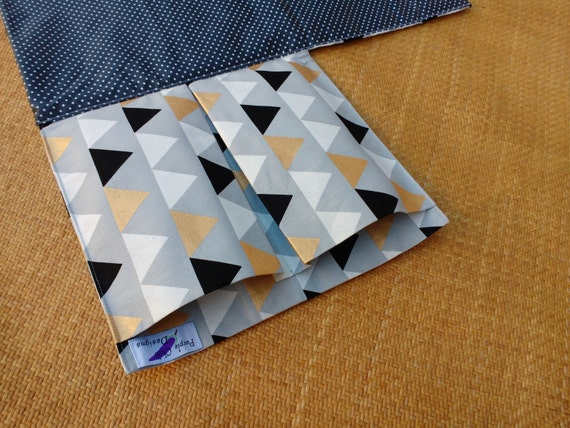 Nappy Wallet with waterproof Change Mat - nappy wallet - diaper bag - diaper clutch - three or two pockets- Multicoloured Triangles