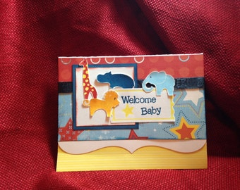 Welcome baby card- set of 5
