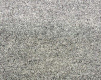 Boiled Wool Dressmaking Coat Weight Fabric - Grey