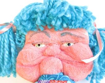 Hand Puppet, Expressive Puppet -  Handmade Sewn - Polyfoam puppet - Carved puppet - Girl puppet - Moving mouth puppet - Teen gift