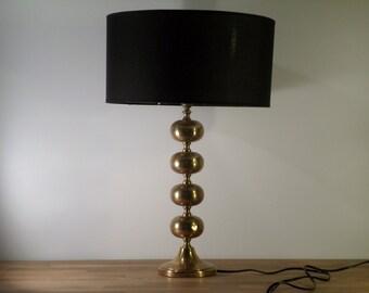 Lamp Hollywood Regency gilded brass