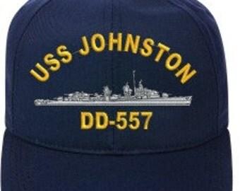 USS JOHNSTON DD-557  Ball Cap   New Item