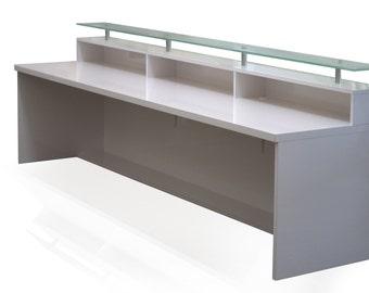 High Gloss White Memphis Reception Desk