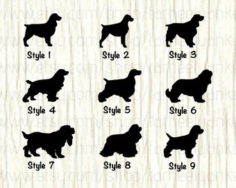 english springer spaniel decal cocker spaniel decal cavalier king charles spaniel decal dog