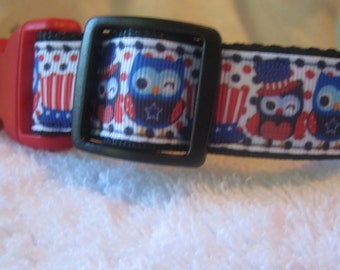 Owls love celebrating July 4th. Get this hooting dog collar for your pup!