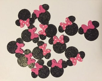 Minnie Mouse Pink Glitter Confetti Birthday Party