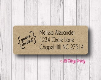 youre invited custom return address labels party invitation save the date - Wedding Invitation Labels