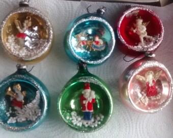 Vintage 1950's Christmas Ornaments