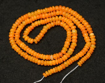 Welo Opal Beads, Natural Ethiopian Opal, Opal Plain Rondelles, Ethipian Opal Necklace, 3.5mm To 4mm Each, 16 Inches