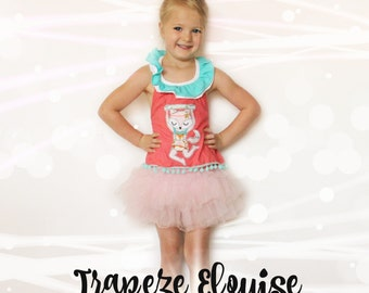 Trapeze Eloise: A Free Motion Embroidered Applique Design