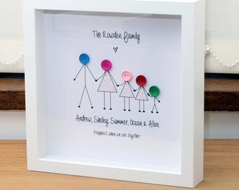 Buttonhead - Personalised framed family pictures