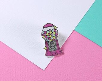Gumball Machine Enamel Pin // lapel pin, hard enamel pin // Elorasaurus Collab // EP100