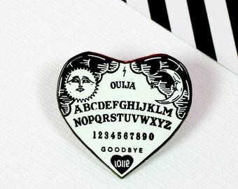 Ouija Heart Enamel Pin // Loll3, spooky, halloween // EP146