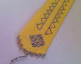 Hand embroidered bookmark
