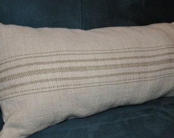 Beige Grainsack Lumbar pillow
