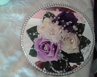 FLOWER CAKE TOPPER or Table Decoration
