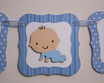 Baby Boy Shower Banner, Baby Shower Banner, Photo OP Banner