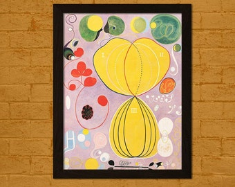 Printed On Textured Bamboo Art Paper - Hilma af Klint Print- The Ten Largest No. 7, Adulthood, Group IV 1907 Hilma Af Klint Poster Gift Idea