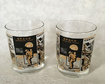 Johnson Space Center Black and Gold Tumblers set of 2