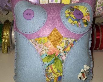 Purple Felt Easter Owl