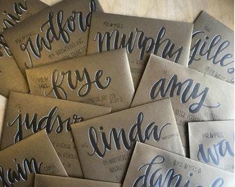 Custom Handlettered Envelopes