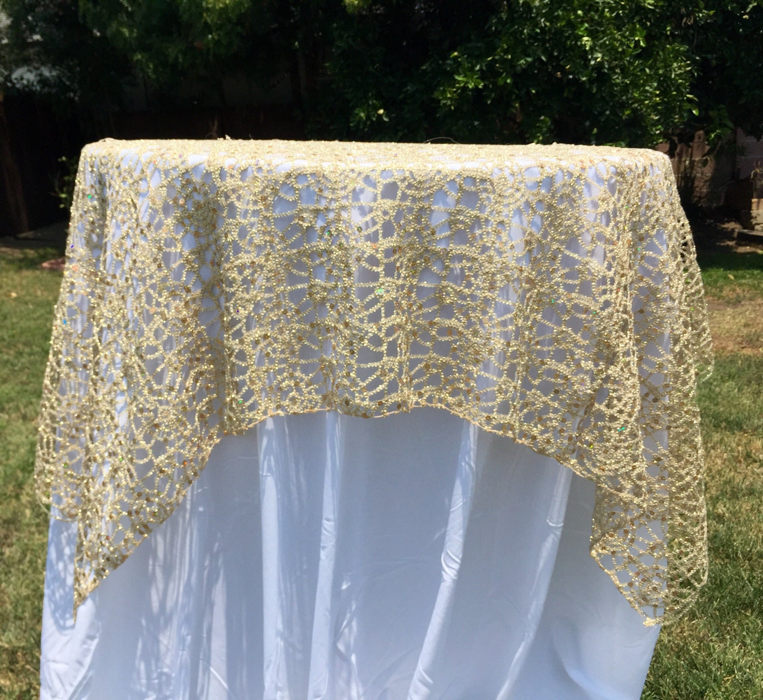 gold lace tablecloth silver sequence chain lace table overlay lace tablecloth wedding decor table runner table cloth lace sequin