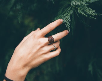 Tribal Leather Ring