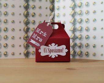 Customizable wedding confetti box/customizable Wedding favor boxes/box Dragéè/Jordan Almond boxes Candy box