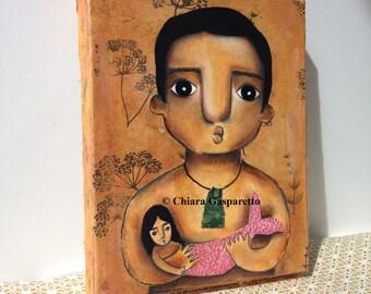 Karitoki And Pania, An Original Mixed Media Painting by ChiarArtIllustration