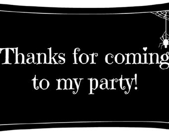 Halloween Party Thank you tags- Instant Download