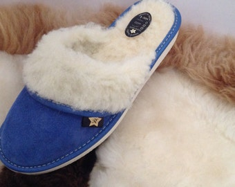 New Leather Slippers Cozy Warm Wool Size 3 4 5 6 7 8 Shoes Flip Flop Sandals