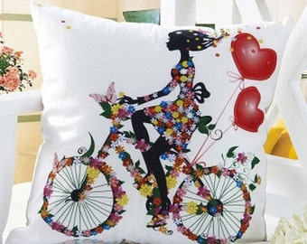 Oh so pretty! Pillow covers -Bicycle Butterfly