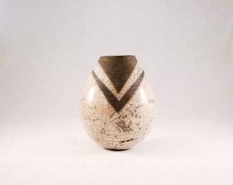 Raku Bud Vase | Handmade | Stoneware