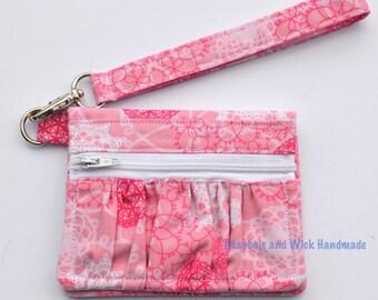 Pink 'Maybole' Wallet, women's wallet, small wallet, handmade, fabric wallet