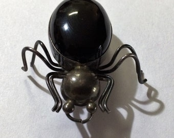 Antique Silver Spider Pin.
