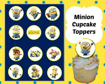 Minion Cupcake Toppers printable