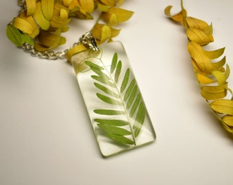 Herb necklace, Resin jewelry, Natural jewelry, Real herb jewelry, Resin Pendant, Resin Flower, Floral Necklace, Dried herb, Gifts for her