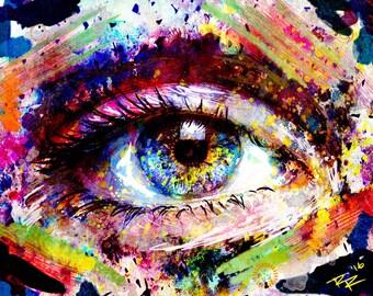 Eye Art, Eye Art Print, Eye painting