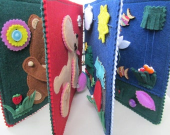 Children's Book, Busy Book, Interactive Book, Textile Book, Montessory Toys, Fabric Activity Book