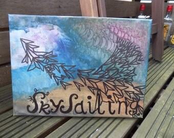Owl City Sky Sailing Canvas Painting