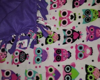 Owl Fleece Blanket-christmas gift-warm and cozy