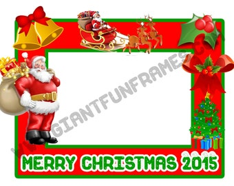 Christmas Frame / Photo Booth / Photo Prop Digital File