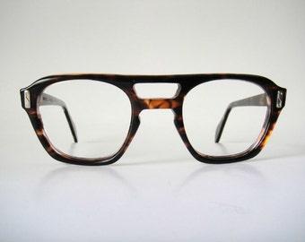 Safety Hand polished Canada 50s Eye glasses Frames Shell Vintage Tortoise Geek