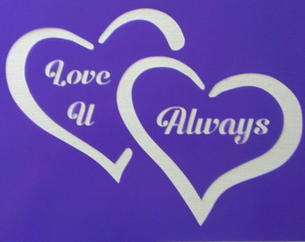 List 6 - Valentine's Day stencils *Free gift with every order*