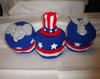 Toilet Paper Cover Crochet Pattern,Patriotic Toilet Paper Crochet Pattern,Political Toilet Paper Cover Crochet Pattern