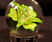 Bright green Lily Marble