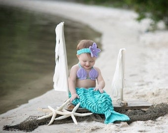 Mermaid photo prop, mermaid costume, baby mermaid outfit, toddler mermaid outfit